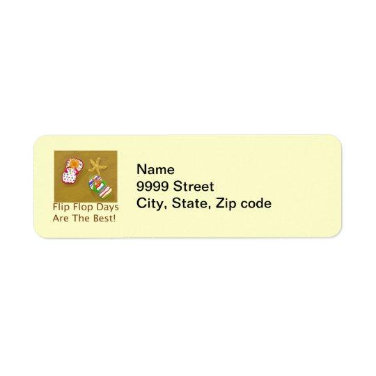 Flip Flop Days Label