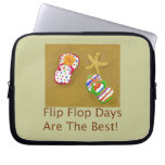 Flip Flop Days Laptop Computer Sleeves