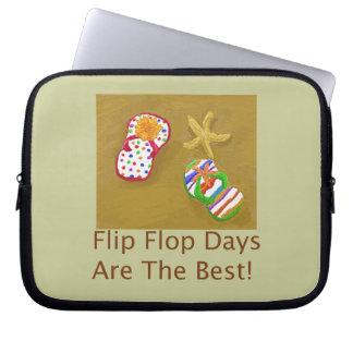 Flip Flop Days Laptop Computer Sleeves
