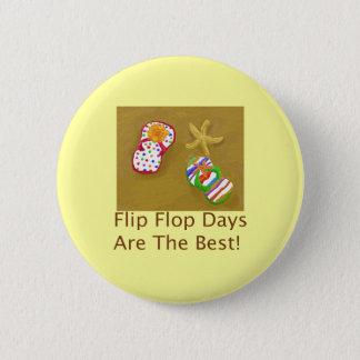 Flip Flop Days Pinback Button