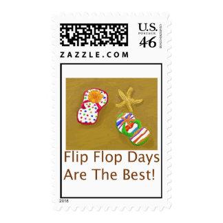 Flip Flop Days Postage Stamps