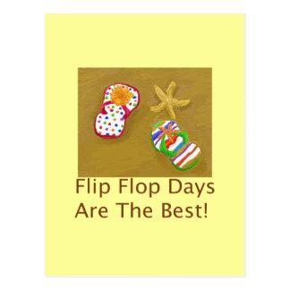 Flip Flop Days Postcard