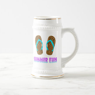 Flip-flop de la diversión del verano - leopardo jarra de cerveza