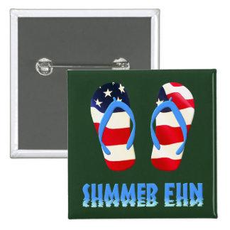 Flip-flop de la diversión del verano - los E.E.U.U Pin Cuadrado