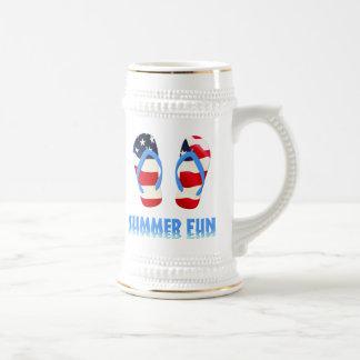 Flip-flop de la diversión del verano - los jarra de cerveza