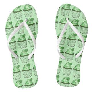 Flip-flop del día del trébol de St Patrick verde Chanclas