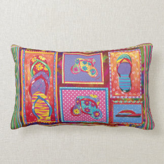 Flip-flop Fun Collage pillow