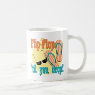 Flip-flop 'hasta que usted cae taza básica blanca
