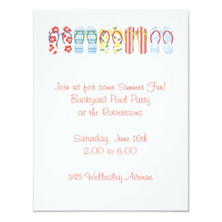 flip flop invitation