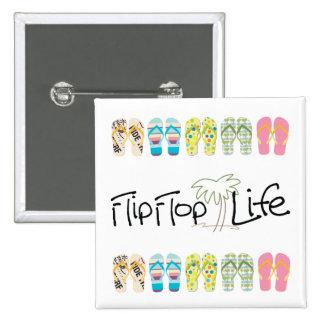 Flip Flop Life Pinback Button
