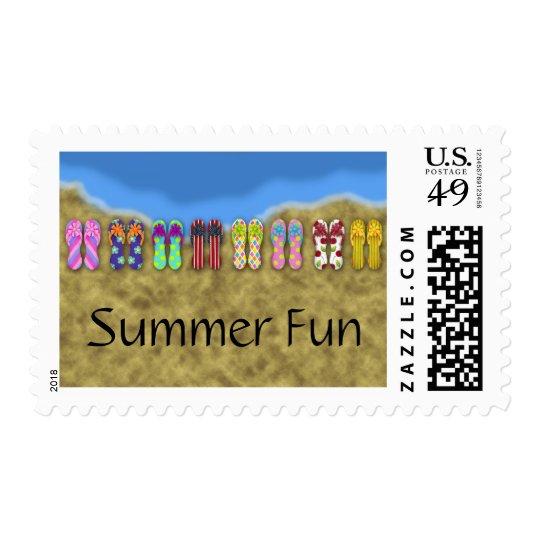 Flip Flop Ocean Postage Stamp