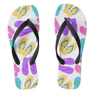Flip flop pattern beach fun flip flops