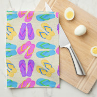 Flip flop pattern kitchen towel