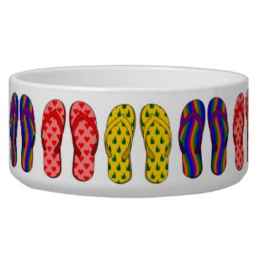 Beach Themed Flip Flop Pet Bowl