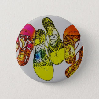Flip Flop Pinback Button