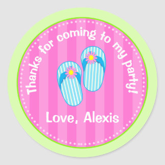 Flip Flop Pool Party Favor Stickers