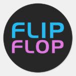 Flip Flop Round Stickers