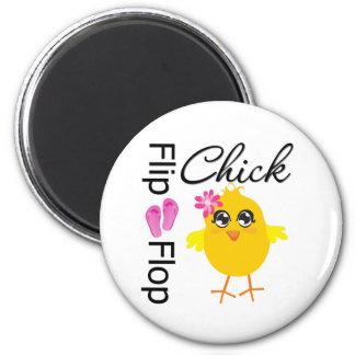 Flip-Flop Sandals Chick 2 Inch Round Magnet