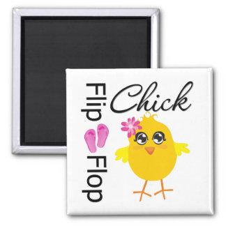 Flip-Flop Sandals Chick 2 Inch Square Magnet