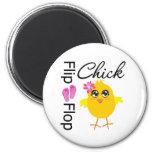 Flip-Flop Sandals Chick Fridge Magnets