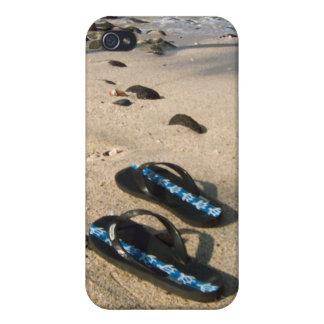 Flip Flop Sandals on the Beach iPhone 4 Case