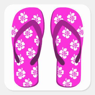 Flip Flop Square Stickers