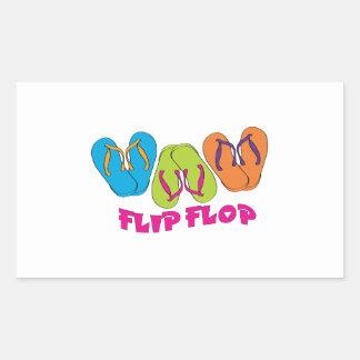 Flip Flop Rectangle Sticker