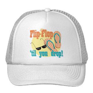 Flip Flop til You Drop Trucker Hats