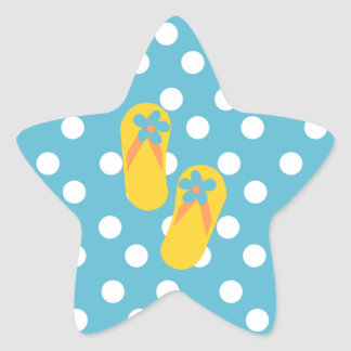 Flip Flop Time! Star Sticker