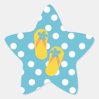 Flip Flop Time! Star Sticker