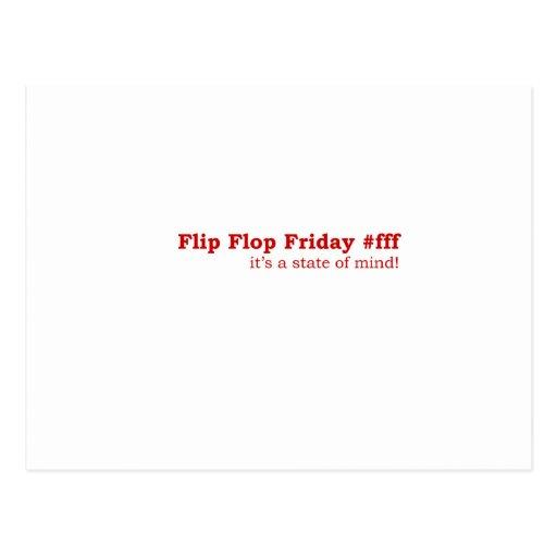 Flip-flop viernes tarjeta postal