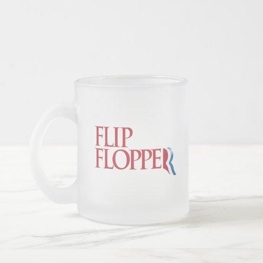 Flip Flopper 10 Oz Frosted Glass Coffee Mug