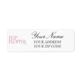 Flip Flopper Return Address Label