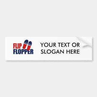 Flip Flopper Romney Car Bumper Sticker