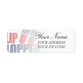 Flip Flopper Romney Return Address Label