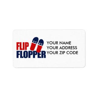 Flip Flopper Romney Address Label