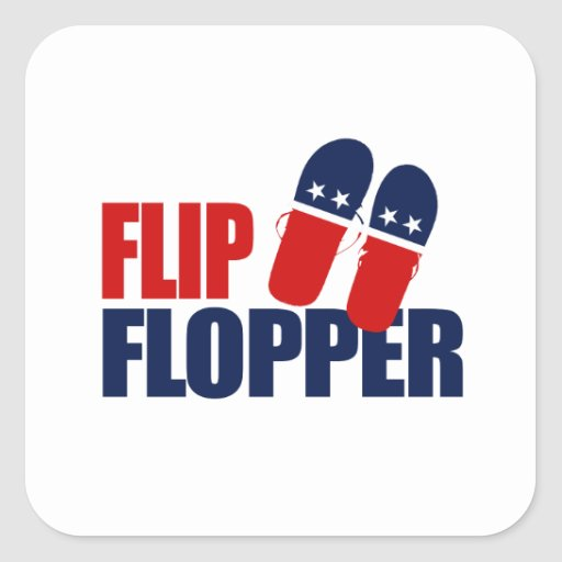 Flip Flopper Romney Sticker