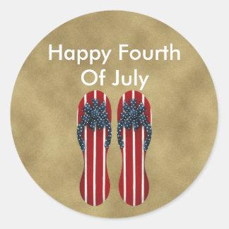 Flip Flops 4th Of July Sticker