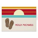 Flip Flops & 70s Inspired Sunset Notecard Greeting Card
