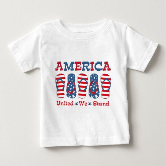 Flip Flops America Baby T-Shirt