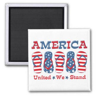 Flip Flops America Magnet