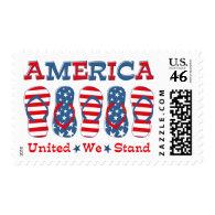 Flip Flops America Postage Stamps