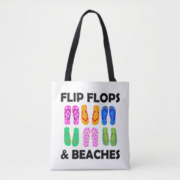 Flip flops and beaches tote bag