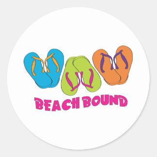 Flip Flops Beach Bound Classic Round Sticker