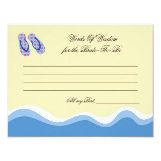 Flip Flops Beach Bridal Advise Card