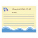 Flip Flops Beach Bridal Recipe Card Personalized Announcement
