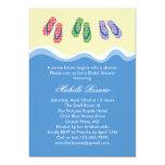 "Flip Flops Beach Bridal Shower Invitation 5"" X 7"" Invitation Card"