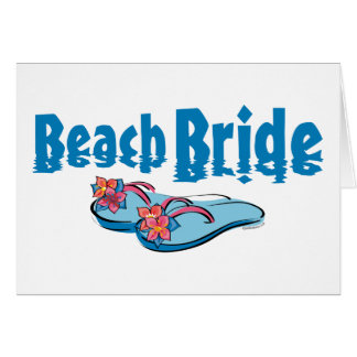 Flip Flops Beach Bride Card