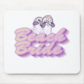 Flip Flops Beach Bride Mouse Pad