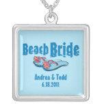 Flip Flops Beach Bride Personalized Necklace